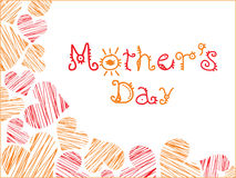 Mothers day with love background Royalty Free Stock Photography