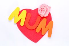 Mothers day love heart Royalty Free Stock Photography