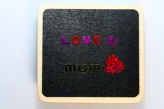 Mothers day love heart Royalty Free Stock Images