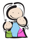 Mothers day. Loving mother hugging her children Stock Photography