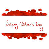 Mothers day message with red roses Stock Photo