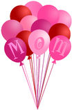 Mothers Day Mom Pink Balloons Royalty Free Stock Photo