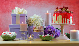 Mothers Day Party Table Royalty Free Stock Photography