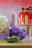 Mothers Day Party Table Stock Photo