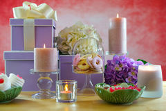 Mothers Day Party Table Stock Photos