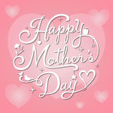 Mothers Day on pink background Royalty Free Stock Photo