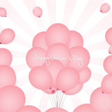Mothers Day Pink Balloons Stock Photo