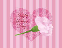 Mothers Day Pink Carnation Flower Illustration Stock Images
