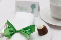 Mothers day place setting Royalty Free Stock Images