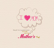Mothers day poster with bubble card Royalty Free Stock Images