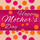 Mothers Day - Purple Pink Horizontal. Happy mothers day text on pink and polka dots background royalty free illustration