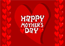 Mothers day - red hearts. Greeting card Stock Photo