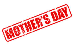 Mothers day red stamp text Royalty Free Stock Image
