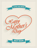 Mothers Day retro flyer Stock Images