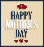 Mothers Day retro poster Royalty Free Stock Images