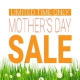 Mothers Day Sale Poster Limited Time Only Shopping Discount Tag. Flat Vector Illustration Royalty Free Stock Image