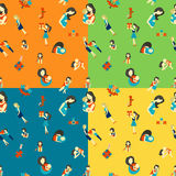 Mothers Day Seamless Pattern Stock Photos