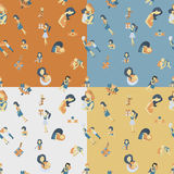 Mothers Day Seamless Pattern Royalty Free Stock Photo