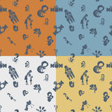 Mothers Day Seamless Pattern Stock Images