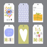 Mothers Day set of tags Royalty Free Stock Images