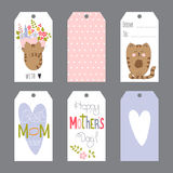 Mothers Day set of tags Royalty Free Stock Photos