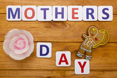 Mothers Day with shaped cookies Royalty Free Stock Photos