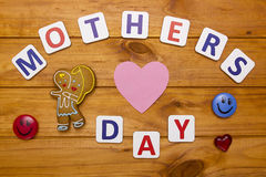 Mothers Day with shaped cookies Stock Image