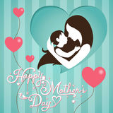 Mothers Day on stripe background Royalty Free Stock Photos