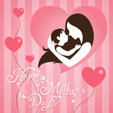 Mothers Day on stripe background. Mothers Day on pink stripe background Royalty Free Stock Photos