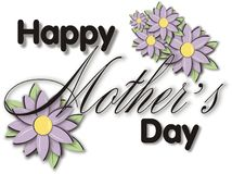 Free Mothers Day Title Block Stock Photos - 654363