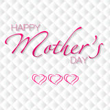 Mothers day. Typographical vector background. Happy Mothers's Day. Illustration Stock Photos