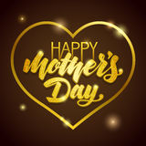 Mothers Day vector greeting card. Stock Images