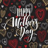 Mothers Day vector greeting card.  Royalty Free Stock Photos