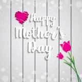 Mothers Day vector greeting card Stock Photography