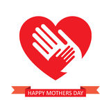 Mothers day, vector illustration Stock Image