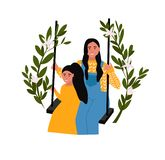 Mothers day vector illustration. stock illustration