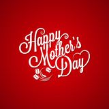 Mothers day vintage lettering background Stock Photography
