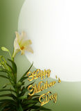 Mothers Day White Lilies royalty free illustration