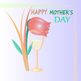 Mothers day vector. Wonderful greeting card funny color mothers day Stock Photo