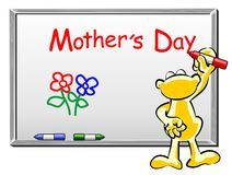 Mothers Day written on whiteboard. Conceptual illustration for Mothers Day Stock Illustration