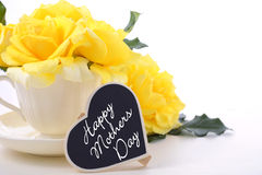 Mothers Day yellow roses royalty free stock images