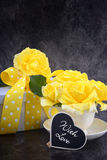 Mothers Day yellow roses stock photography