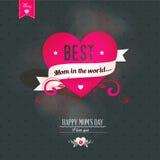 Mothers dnia kartka z pozdrowieniami Zdjęcie Stock