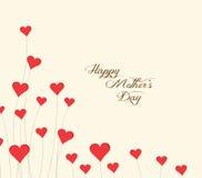 Mothers dnia kwiatu tło z sercami Obraz Stock