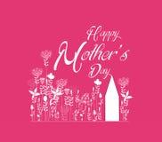 Mothers dnia kwiecista karta Obraz Royalty Free
