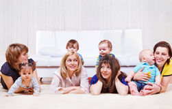 Mothers enjoying time with babies Stock Image