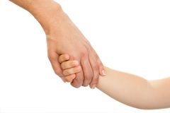 Mothers hand holding babies hand. Royalty Free Stock Image