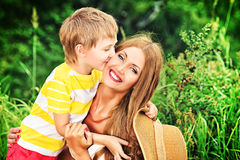 Mothers happiness Stock Photography