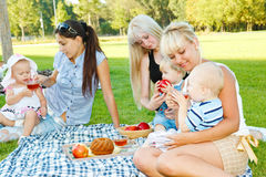 Mothers with kids Royalty Free Stock Photography