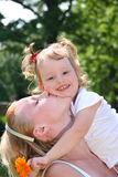 Mothers kiss Royalty Free Stock Photography